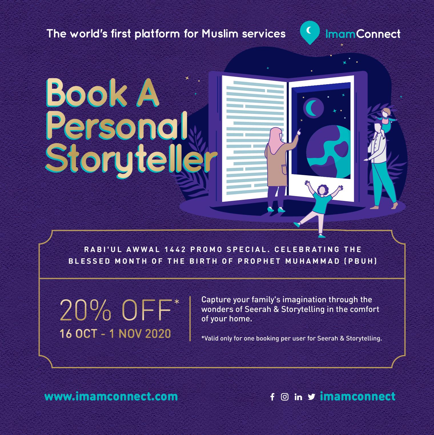 Book A Personal Storyteller Promo